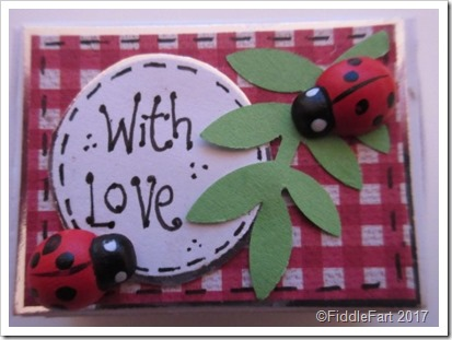 Valentine Lady bug Matchbox