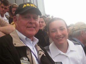 George Ruggles and Hope Landsem at the Army-Northwestern game in 2011
