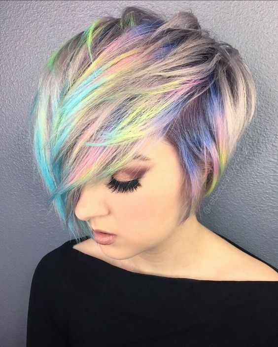 Hair:short hairstyles with different colors for 2018 4