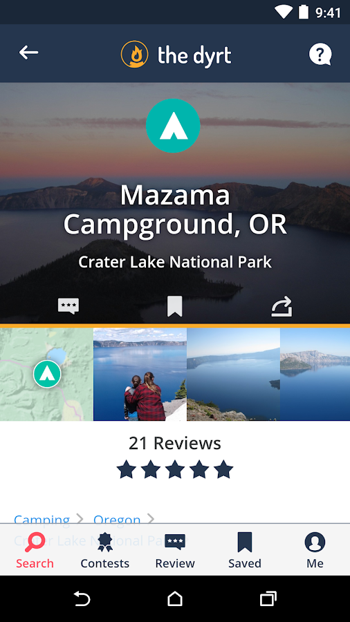 The Dyrt - Find Campgrounds- screenshot