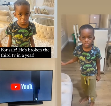 So Funny! Popular Comedian Bovi puts his last son up for 'sale' after he broke their TV set for the third time this year