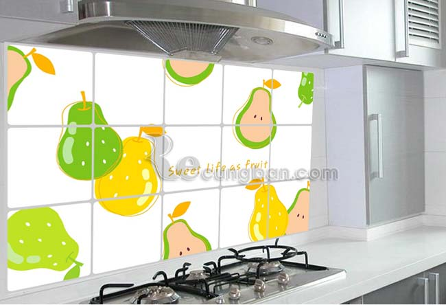 Giấy dán bếp cách nhiệt nhiều màu sắc sang trọng