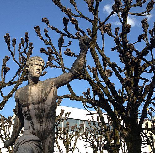 Skulptur und Bäume, Salzburg
