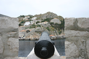 Inside the fortifications of Hydra