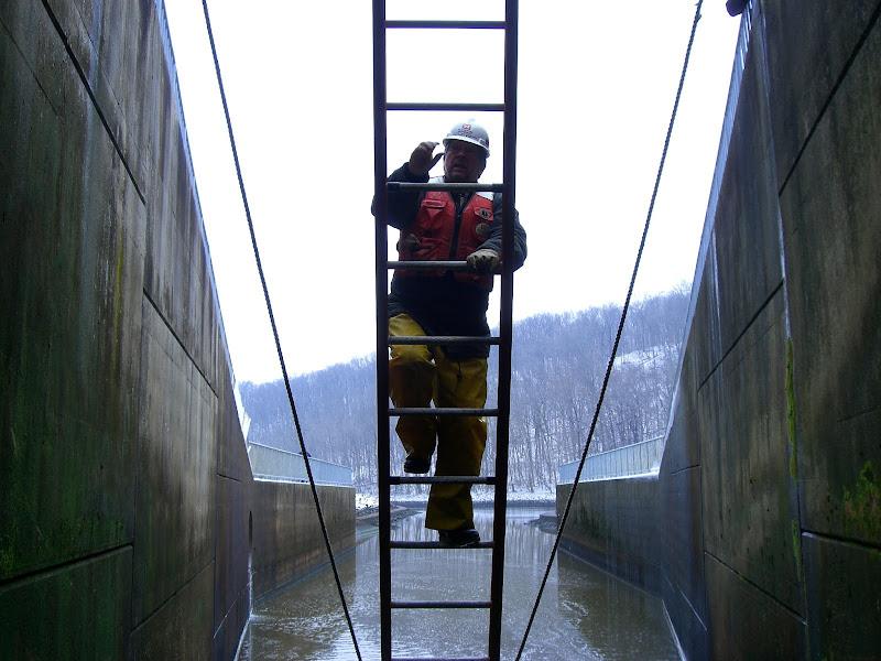 Harsha Lake Dam Inspection at wh Harsha Lake