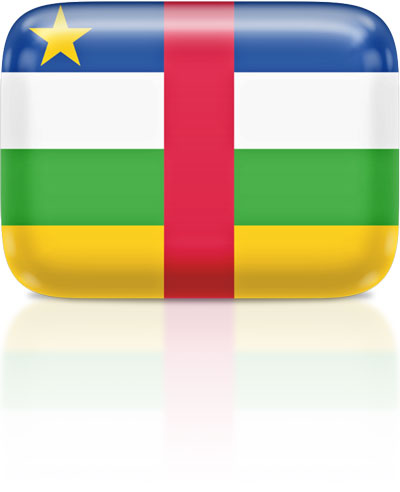 Central African flag clipart rectangular