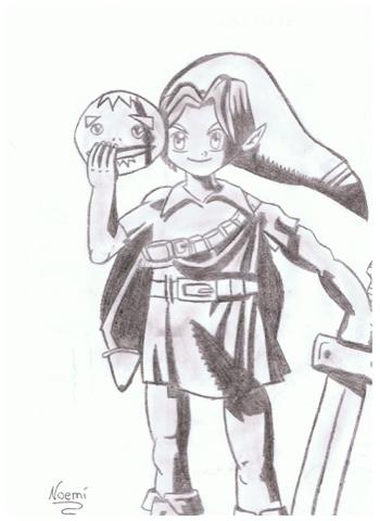 Mi Pared De Dibujo Link The Legend Of Zelda Majoras Mask