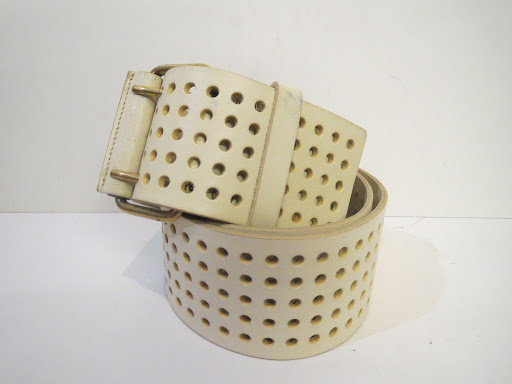 Yves Saint Laurent Perforated Belt