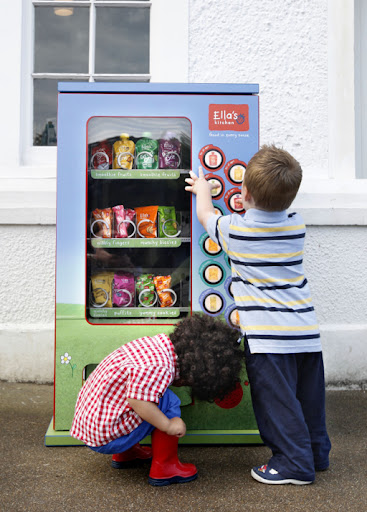 First baby vending machine from Ella's Kitchen