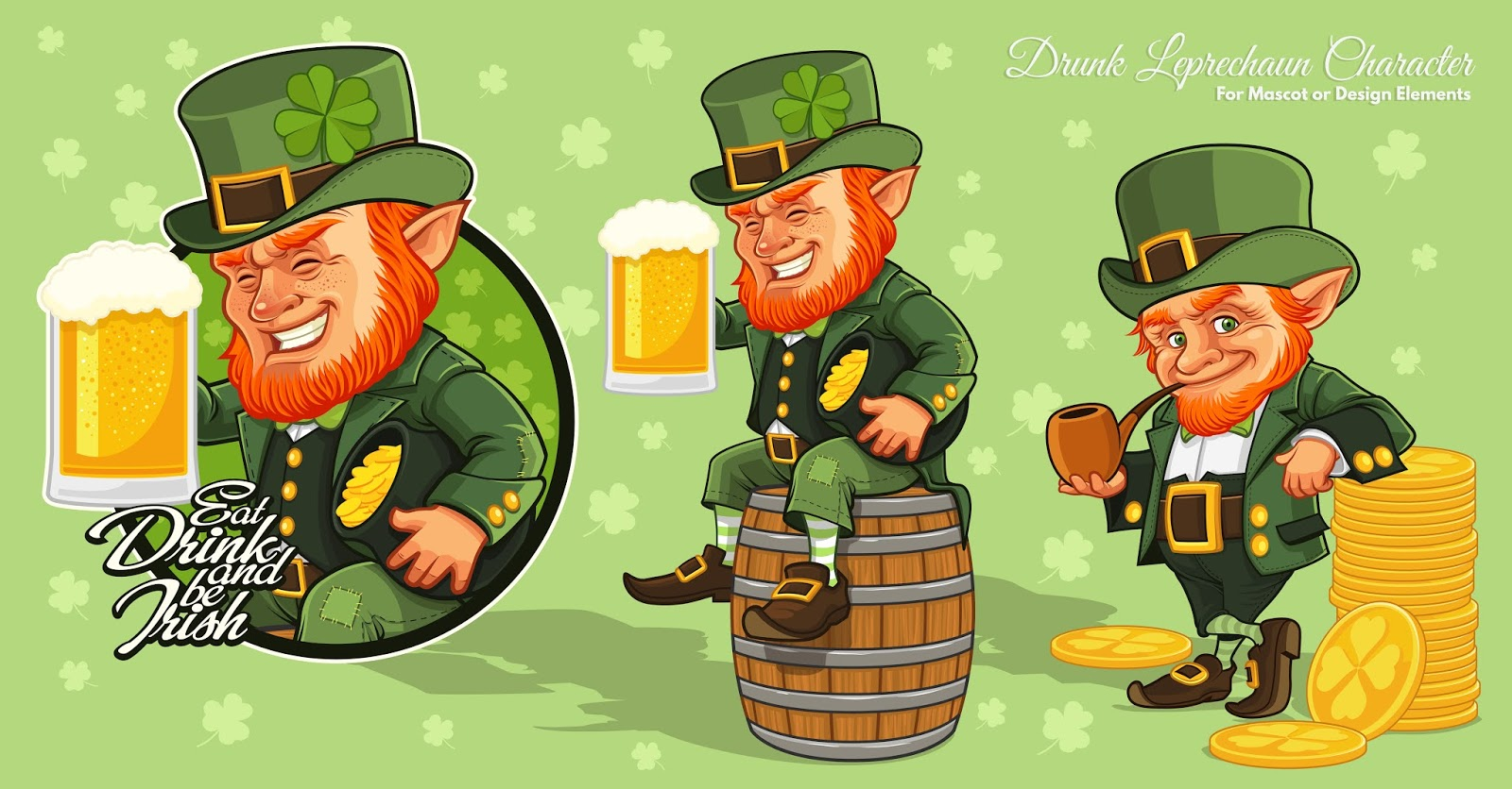 Leprechaun Cartoon Character St Patrick S Day Free Download Vector CDR, AI, EPS and PNG Formats