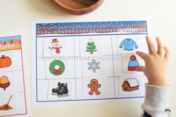 Seasons Sorting Activity Learning Material