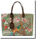 Gucci Printed Leather Trimmed Coated Canvas Tote