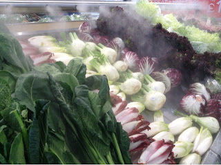 cold mist on vegetables