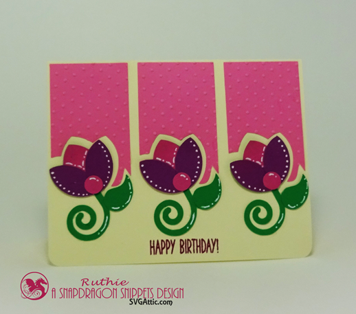 Tulips Sprigs Trio Card, SnapDragon Snippets, Ruthie Lopez 3