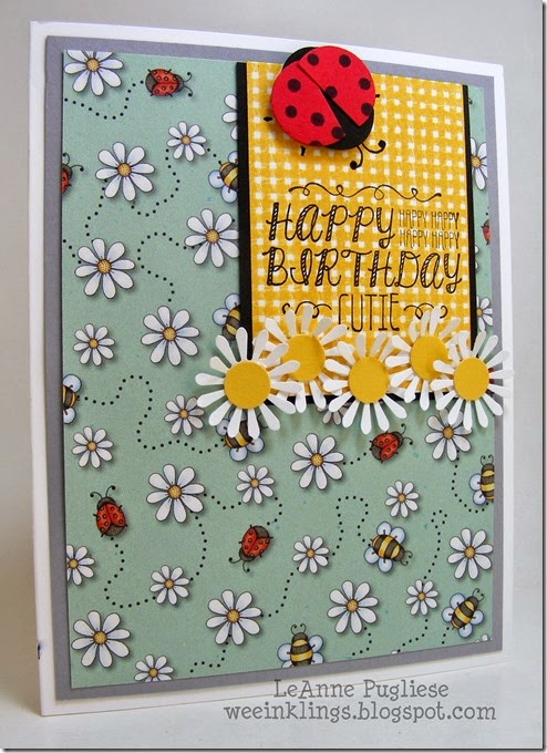 LeAnne Pugliese WeeInklings Try Stampin on Tuesday 218 Lady Bug Birthday Sweet Stuff Stampin Up!