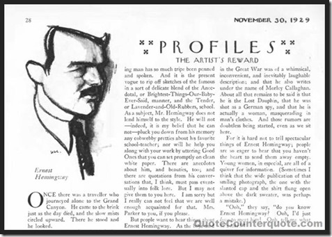 The New Yorker, Nov 30, 1929 - grace under pressure QC