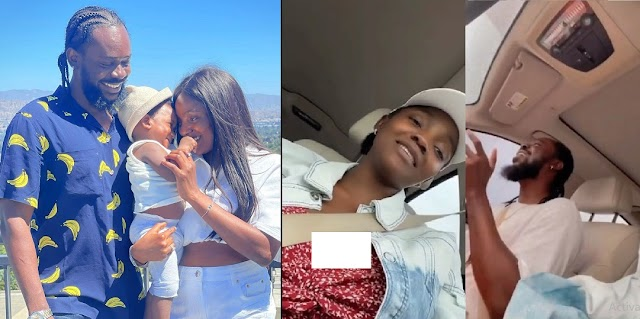 """""""Our Duduke stop crying"""" - Watch adorable video of Adekunle Gold & Simi composing a song for their 'crying' daughter"""
