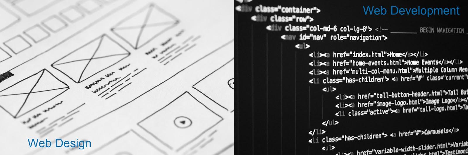 web design vs web development comparison