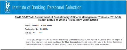 ibps-po-prelims-results-status