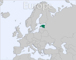 Estonia location map