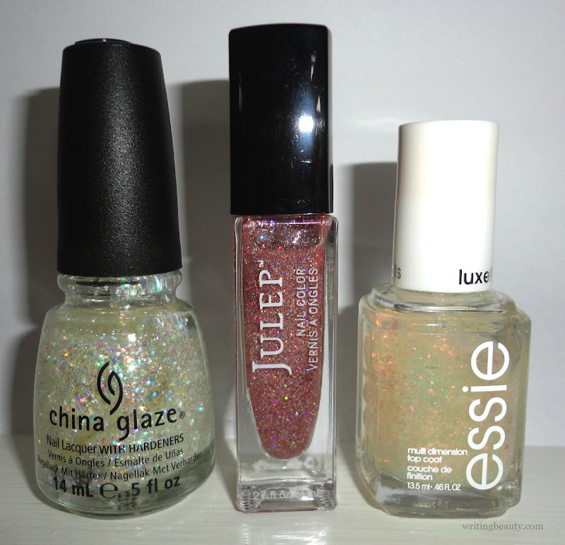 Winter 2016 nail polish favourites China Glaze Snow Globe Julep Nell Essie Shine of the Times