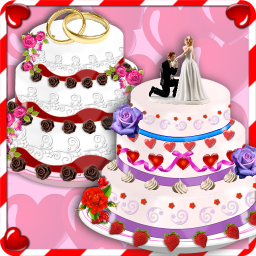 Rose Wedding Cake Maker Games Icon