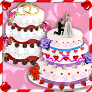 Rose Wedding Cake Maker Games