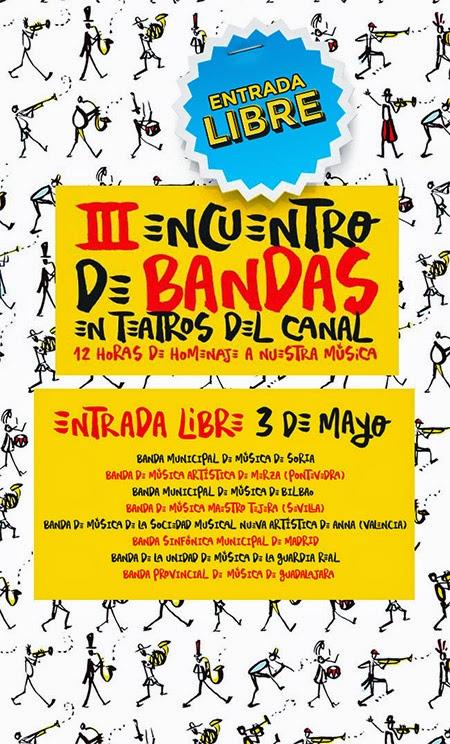 III Encuentro de Bandas en los Teatros del Canal, con entrada gratuita