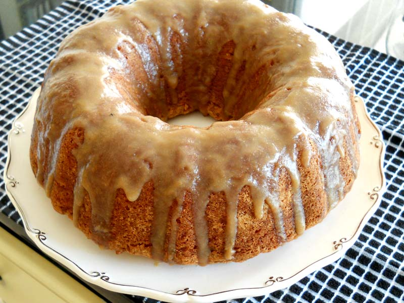 Apple Spice Cake with Brown Sugar Glaze | Lake Lure Cottage Kitchen