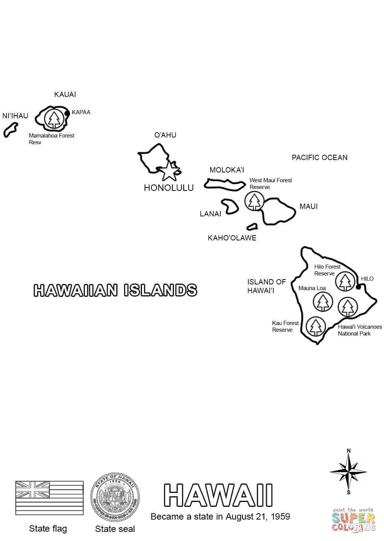 Bahamas Page Coloring Map