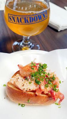 Snackdown 2016 Lardo created the most precious and super delicious mini lobster roll to pair with Heater Allen's Das Bier Kolsch