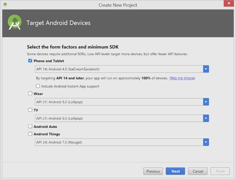 Android - Seleccionar SDK