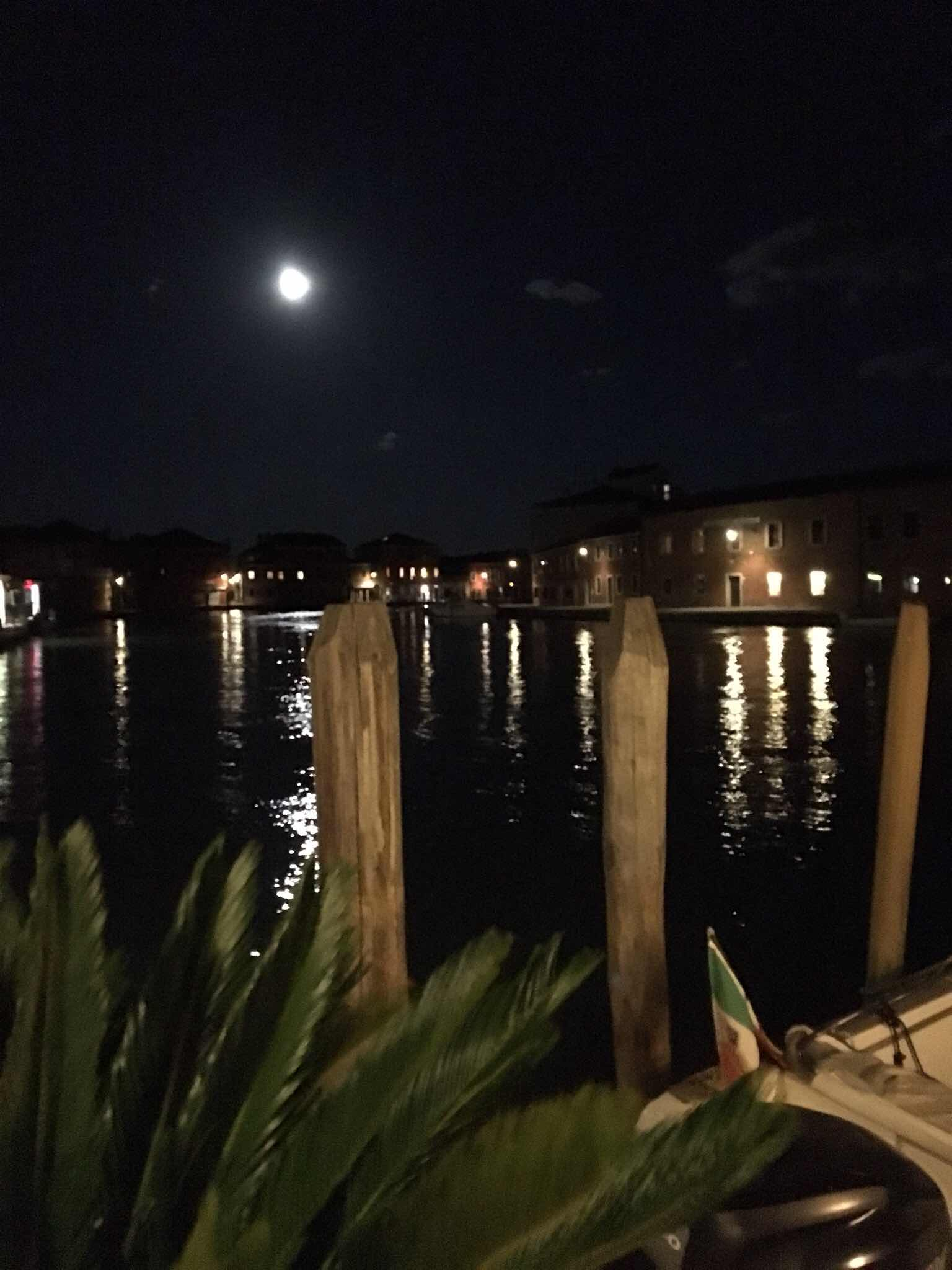 Moonlight on the canal in Murano