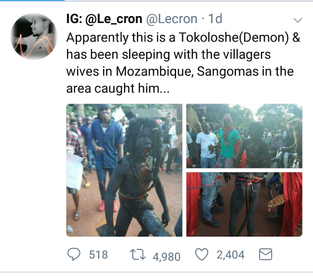Demon With Massive Pen!s That Has Been Sleeping With Villagers' Wives Has Been Caught (Photos)