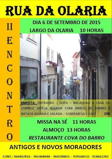 II Encontro - Antigos e novos moradores da Rua da Olaria - Lamego - 2015
