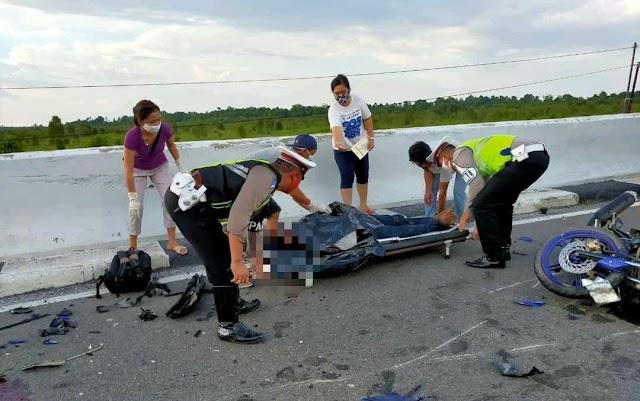 Tabrakan di Atas Jalan Layang Tumbang Nusa, Dua Nyawa Melayang