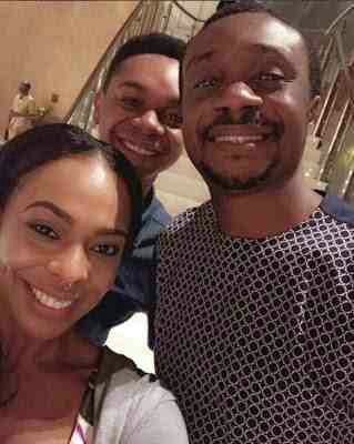 Tboss And Miyonse Pictured With Nataniel Bassey