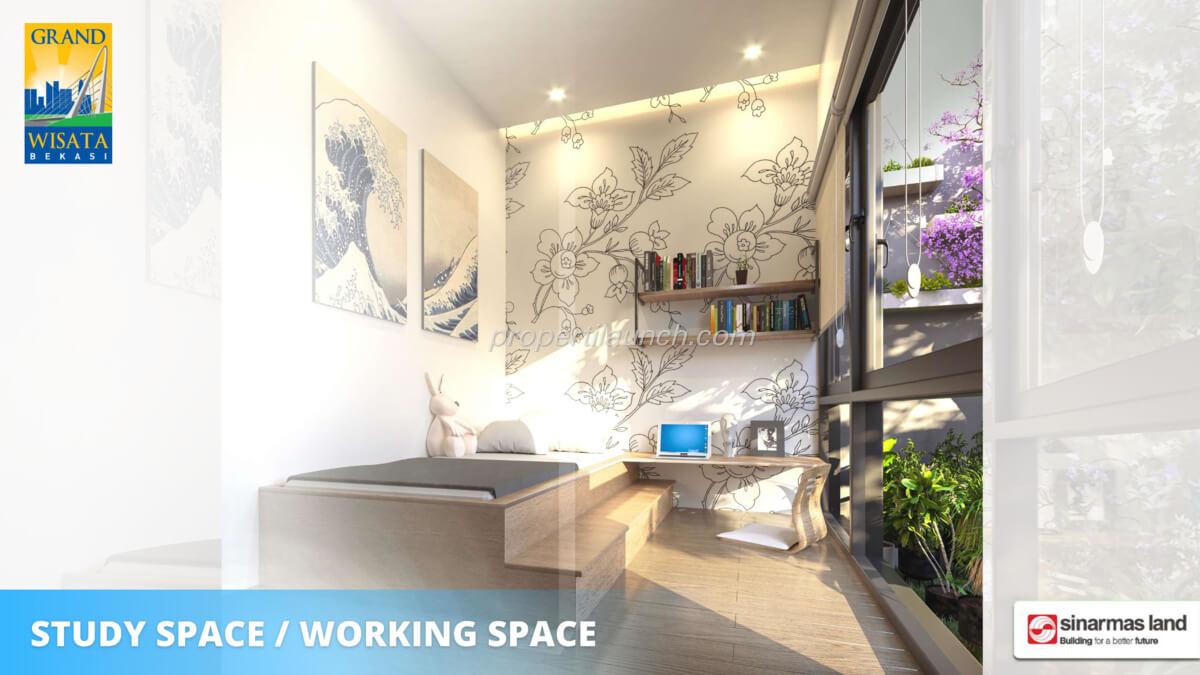 Rumah O8 Bekasi - Study room