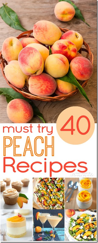 40 Peach Recipes - so many yummy, interesting, and must try peach recipes!