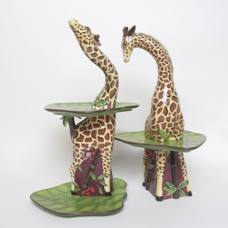 Tracy Porter Lotus Collection Giraffe Plates