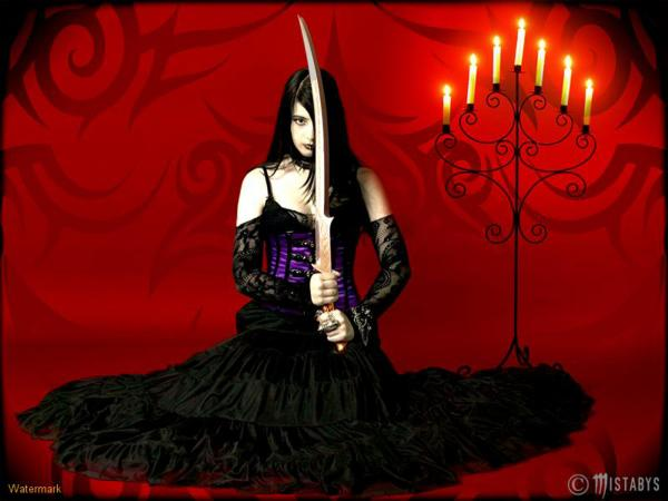 Gothic Girl With Sword, Magick Warriors 5