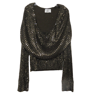 Donna Karan Lava Sequin Sweater