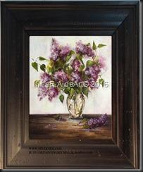 Cherries framed 6x6