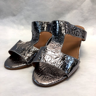 Rachael Comey Foiled Leather Sandals