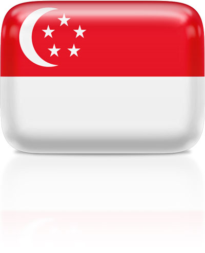 Singaporean flag clipart rectangular