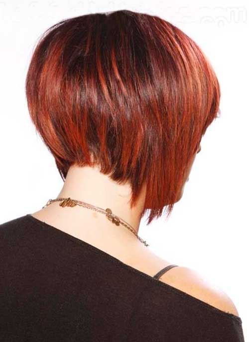 Back View of Bob Stacked Haircut for Women | Fashion Qe