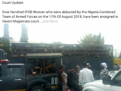 PHOTOS: Pregnant bleeding woman rushed to hospital, two women collapsed as police arraigned 144 protesting women in Imo state Nigeria.