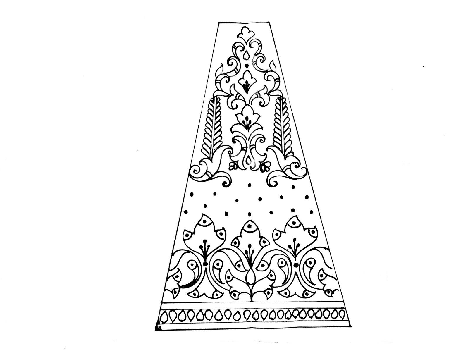how to draw lehenga designs/pencil sketch lehenga fashion illustration/traditional lehenga sketch and drawing