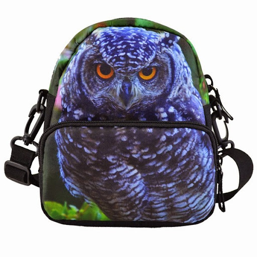 Multifuctional green owl cross body bag waist bag zoo a