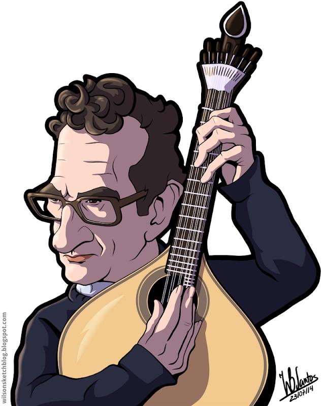Cartoon of Carlos Paredes.